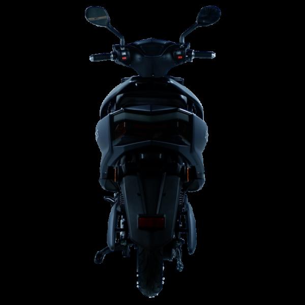 Eagle Elektroroller schwarz hinten licht aus