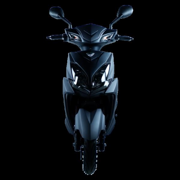 Eagle Elektroroller schwarz frontal licht aus