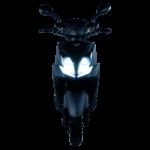 Eagle Elektroroller schwarz frontal licht an