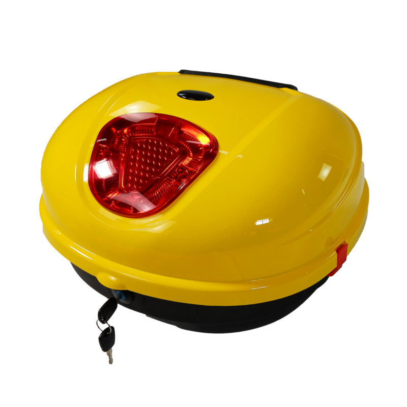 Luna Elektroroller gelb Topcase Seite