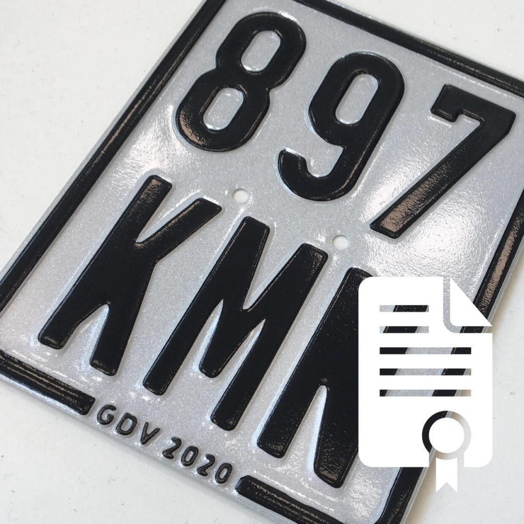 Nummernschild eines Elektrorollers