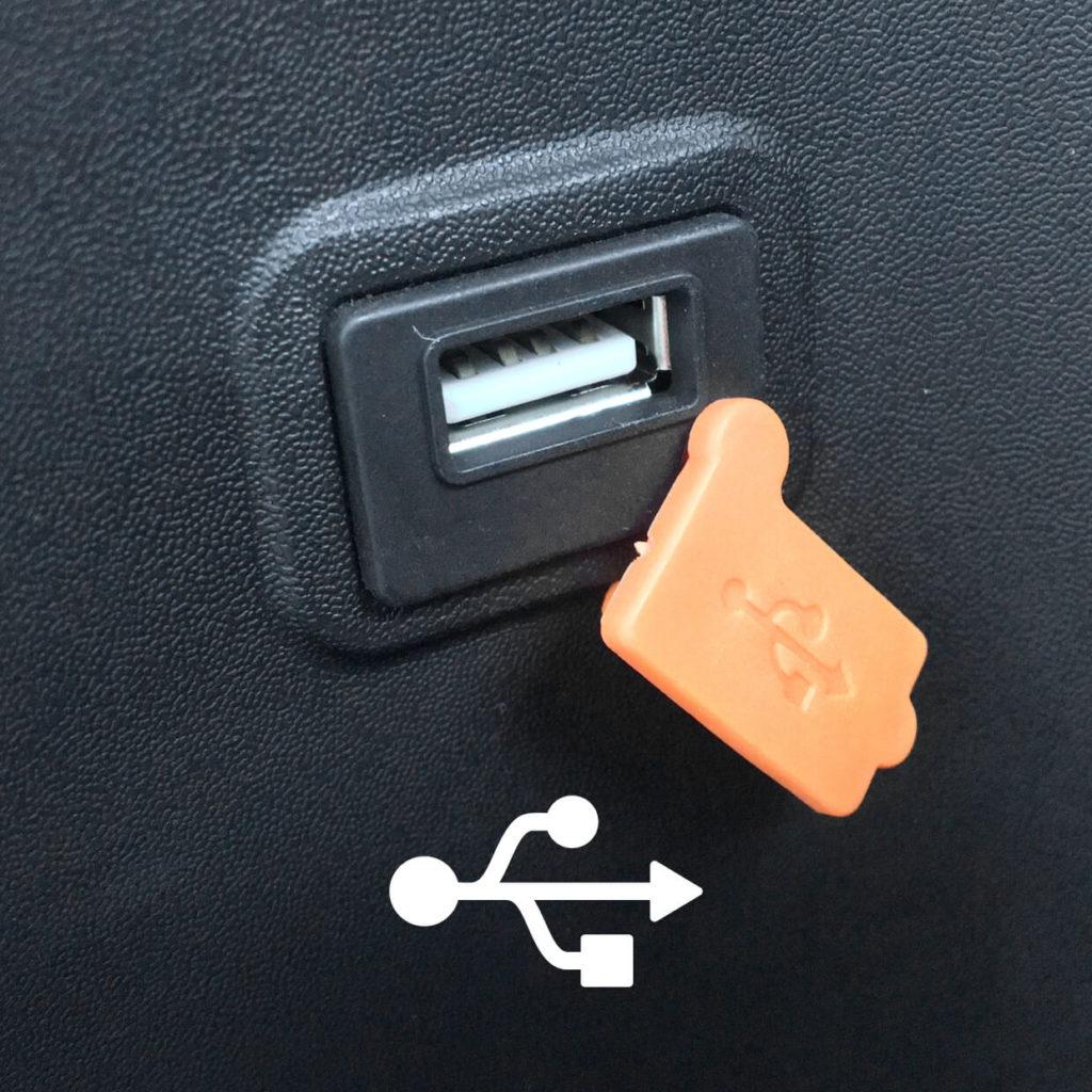 USB Anschluss eines Elektrorollers
